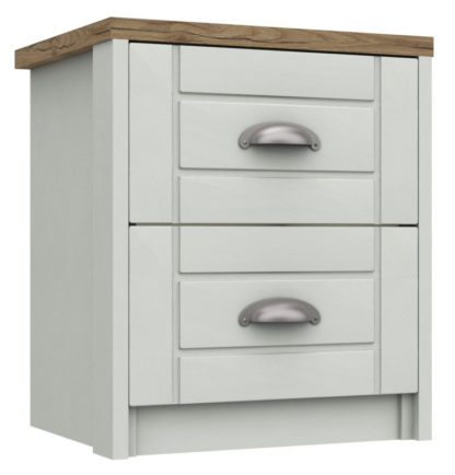 An Image of Kielder 2 Drawer Bedside Table - Grey