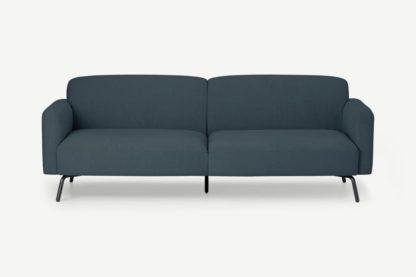 An Image of Toula 3 Seater Sofa, Aegean Blue