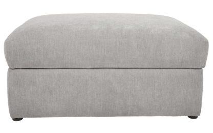 An Image of Habitat Eton Fabric Storage Footstool - Charcoal