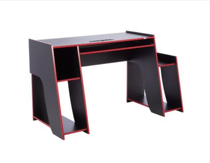 An Image of Virtuoso Horizon Gaming Desk - Red and Black