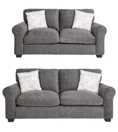 An Image of Argos Home Tammy Fabric 2 Seater and 3 Seater Sofa - Mink
