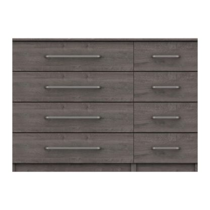 An Image of Parker Grey 8 Drawer Wide Chest Dark Grey