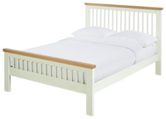 An Image of Argos Home Aubrey Small Double Bed Frame - Two Tone