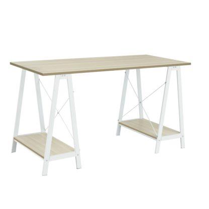 An Image of Habitat Trestle Table Office Desk - White