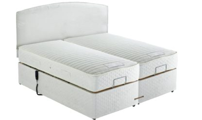 An Image of MiBed Barrow Adjustable Kingsize Bed and 800 Pocket Mattress