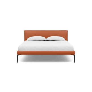 An Image of Heal's Matera Bedstead King Leather Hide Tobacco 7179