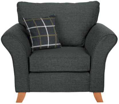An Image of Argos Home Kayla Fabric Armchair - Charcoal
