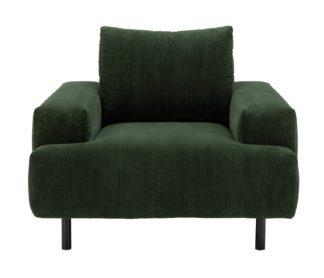 An Image of Habitat Julien Fabric Armchair - Green