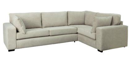 An Image of Habitat Eton Right Corner Fabric Sofa - Grey