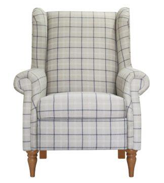 An Image of Argos Home Argyll Fabric High Back Chair - Coastal