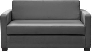 An Image of Habitat Lucy 2 Seater Fabric Sofa Bed - Grey