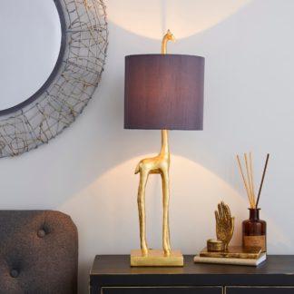 An Image of Malmo Giraffe Gold Table Lamp Gold