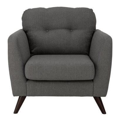 An Image of Habitat Hayle Fabric Armchair - Grey