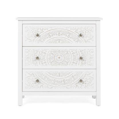 An Image of Samira 3 Drawer Chest White