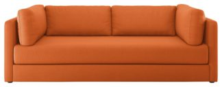 An Image of Habitat Flip 3 Seater Fabric Sofa Bed - Orange