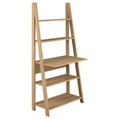 An Image of Tiva Oak Ladder Desk Natural