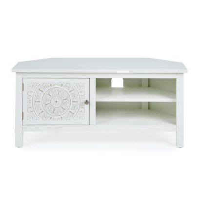 An Image of Samira Corner TV Unit White