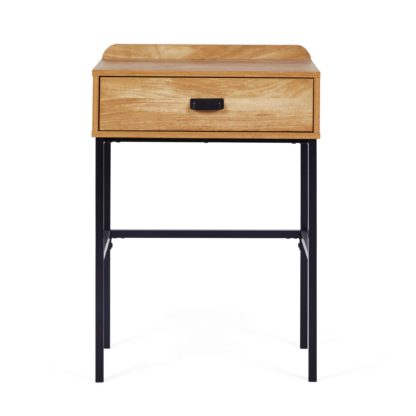 An Image of Greenwich Compact Desk Wood (Brown)