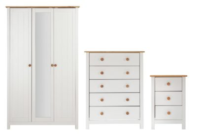 An Image of Habitat Scandinavia 3 Piece 3 Door Wardrobe Set -Two Tone