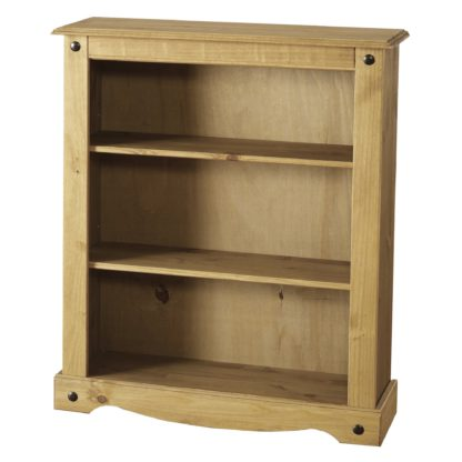 An Image of Corona Pine Low Bookcase Natural