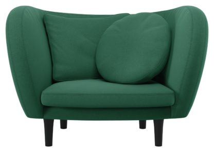 An Image of Habitat Arya Green Fabric Armchair