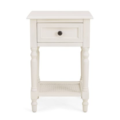 An Image of Lucy Cane Cream Nightstand White