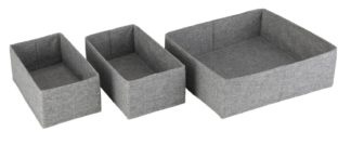 An Image of Argos Home 3 Piece Set of Drawers Storage - Grey