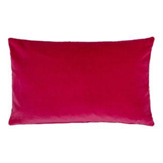 An Image of Heal's Velvet Cushion Fuchsia 35 x 55cm