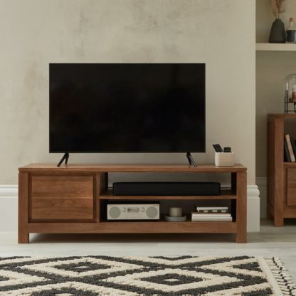 An Image of Harlam Wide TV Stand Brown