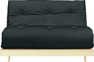 An Image of Argos Home Tosa 2 Seater Futon Sofa Bed - Black