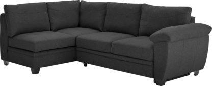An Image of Argos Home Fernando Left Corner Fabric Sofa Bed - Charcoal