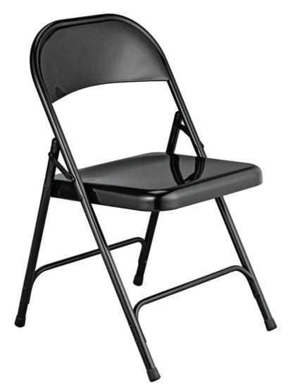 An Image of Habitat Macadam Metal Folding Chair - Black