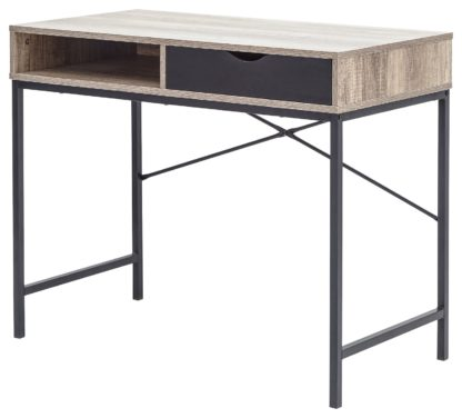 An Image of Telford 1 Drawer Desk - Dark Oak