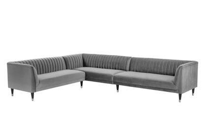 An Image of Baxter Large Left Hand Corner Sofa - Dove Grey
