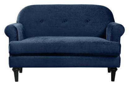 An Image of Habitat Whitney 2 Seater Velvet Sofa - Green