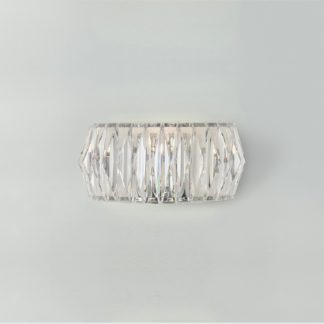 An Image of Argos Home Prism Chrome Wall Light - Clear