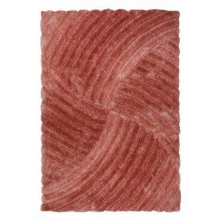 An Image of Verge Furrow Rug Pink