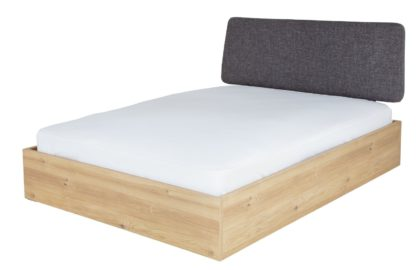 An Image of Habitat Loft Living Ottoman Double Bed Frame - Oak & Grey
