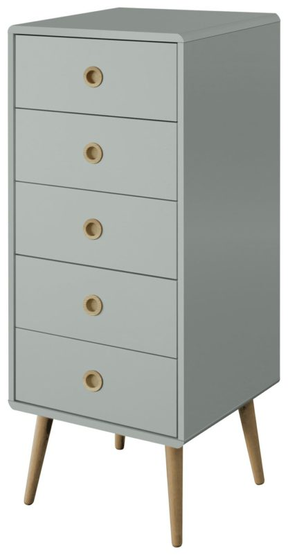 An Image of Softline 5 Drawer Chest of Drawers - Grey
