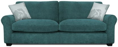 An Image of Argos Home Tammy 4 Seater Fabric Sofa - Wine