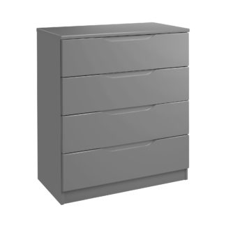 An Image of Legato Grey 4 Drawer Chest Grey