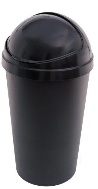 An Image of Curver 50 Litre Bullet Kitchen Bin - Black