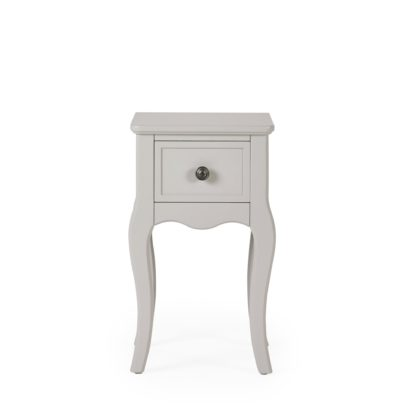 An Image of Clara 1 Drawer Bedside Table Grey