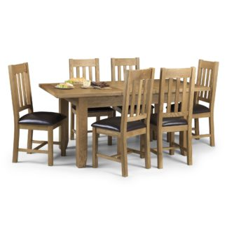 An Image of Astoria Extending Dining Table with 6 Chairs Oak