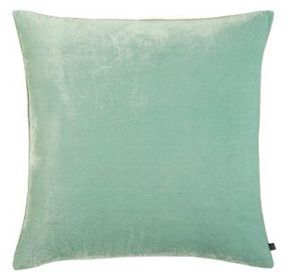 An Image of Habitat Regency 45 x 45cm Velvet Cushion - Light Blue