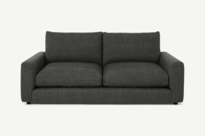 An Image of Arni 3 Seater Sofa, Slate Textured Weave