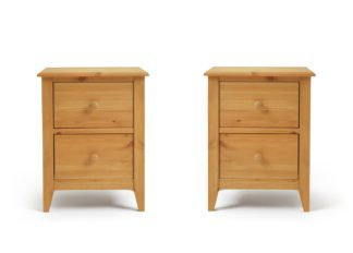 An Image of Colorado 2 Bedside Tables Set - Pine