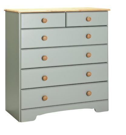 An Image of Argos Home Nordic 4+2 Drawer Chest - Grey & Pine