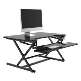 An Image of Height Adjustable Desk Riser Black