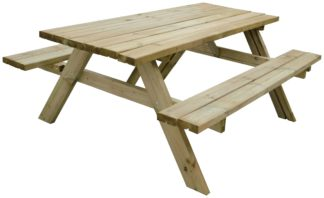 An Image of Forest Garden Retangular 8 Person Picnic Table